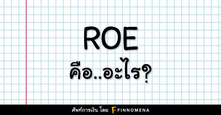 ROE คือ อะไร?