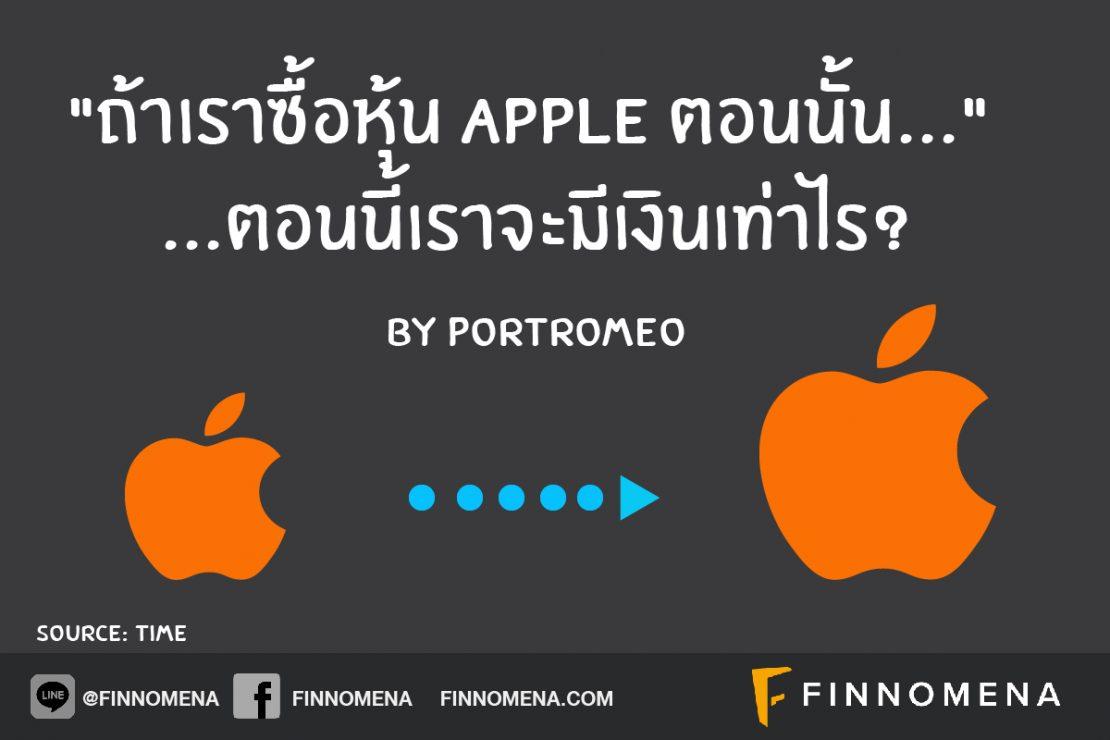 """""""ถ้าเราซื้อหุ้น Apple ตอนนั้น..."""" ตอนนี้เราจะมีเงินเท่าไร?"""