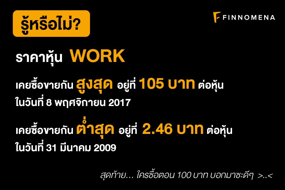 """รีวิวหุ้น """"WORK"""" บริษัท เวิร์คพอยท์ เอ็นเทอร์เทนเมนท์ จำกัด (มหาชน)"""