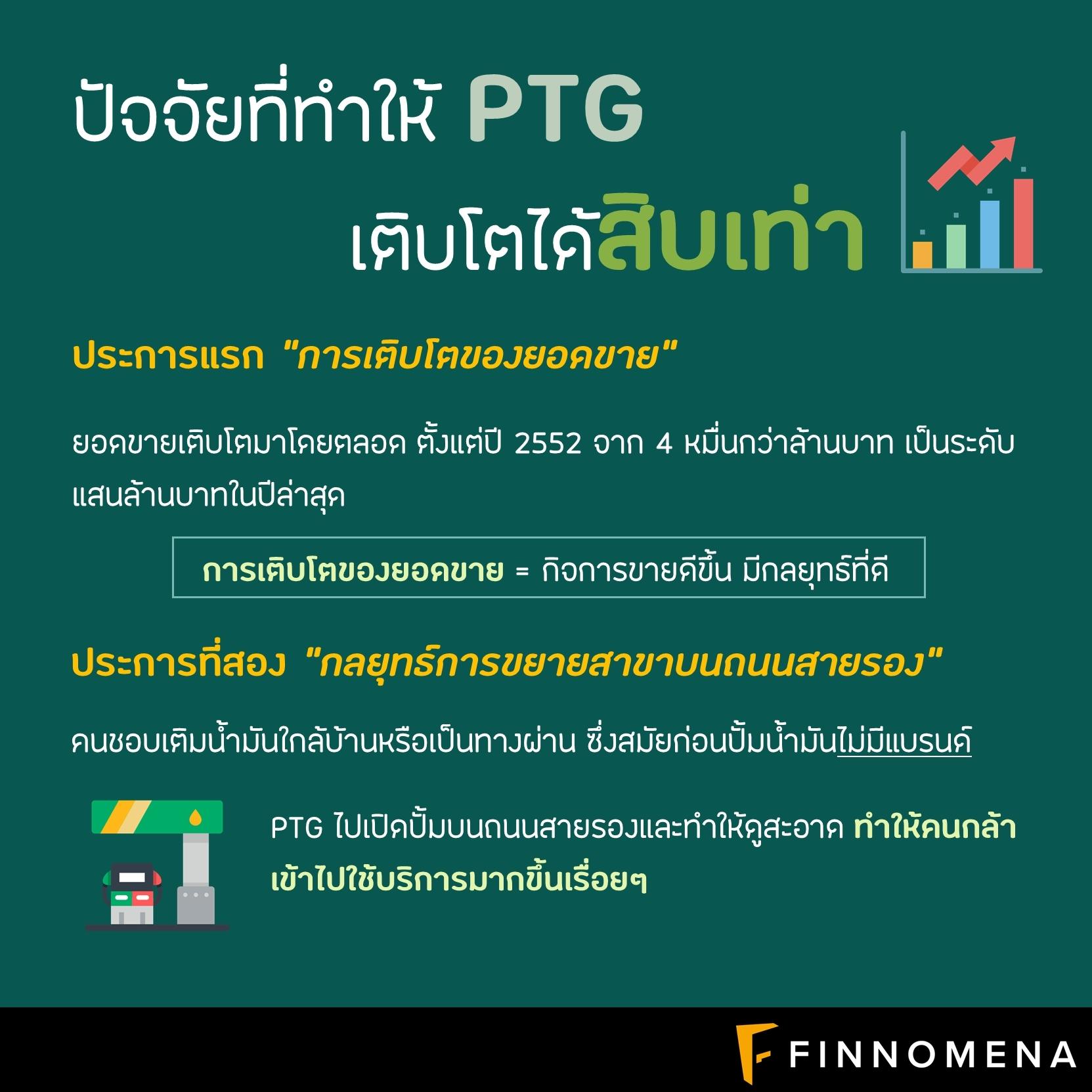 """#เปิดสูตรวีไอพลิกกำไรให้ยั่งยืน ... """"ทำไม PTG จึงเป็นหุ้นที่โต 10 เท่าใน 5 ปี"""""""