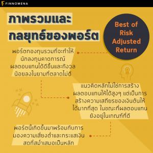 เพิ่มความมั่งคั่งระยะยาวพร้อมรับผลตอบแทนสม่ำเสมอ ผ่าน Best of Risk Adjusted Return