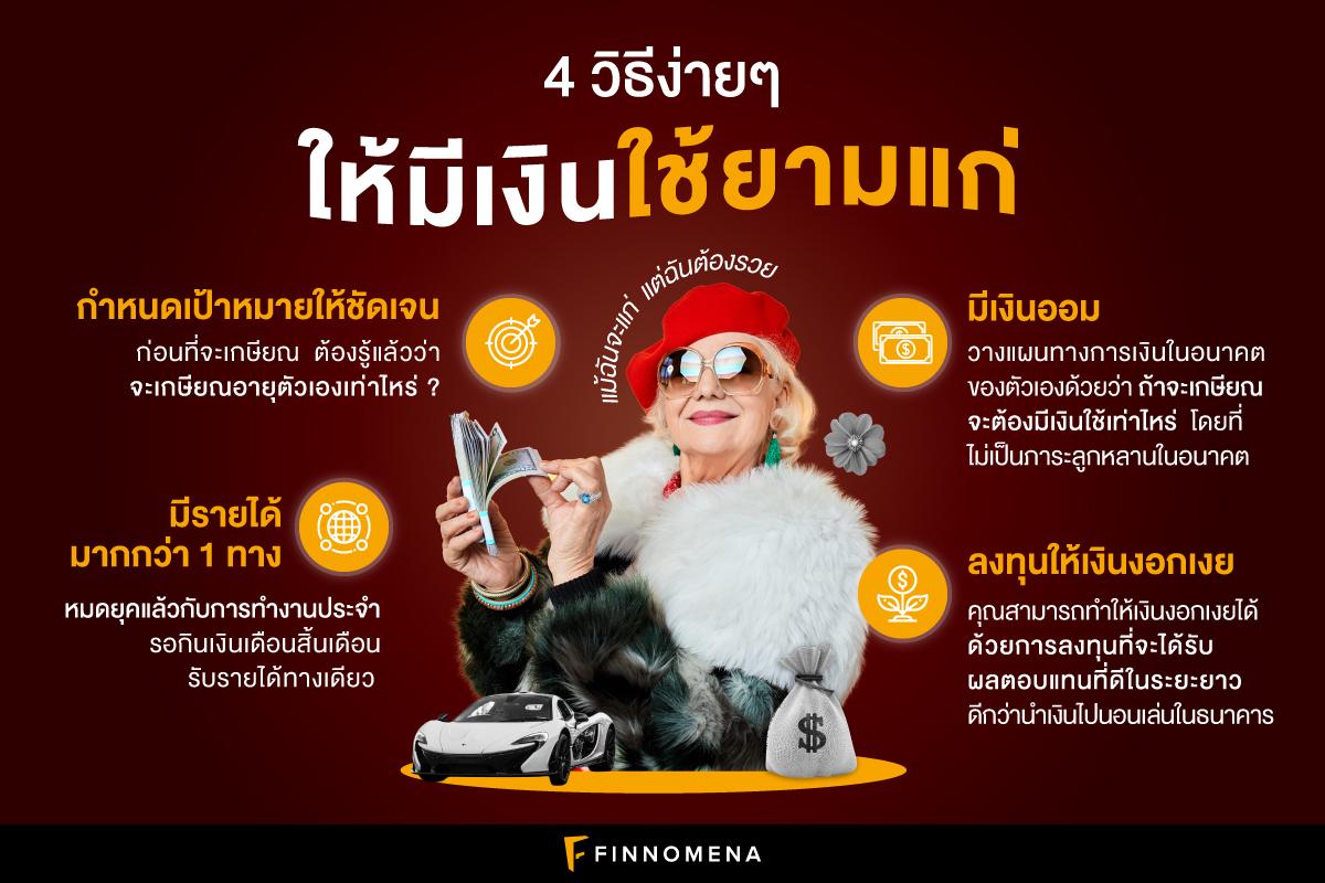 (เงินล้าน) 4 วิธีง่ายๆ ให้มีเงินใช้ยามแก่