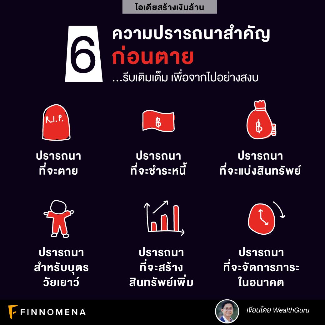 (เงินล้าน) 6 ความปรารถนาสำคัญก่อนตาย
