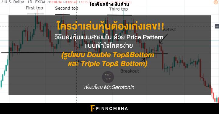 ใครว่าเล่นหุ้นต้องเก่งเลข!! วิธีมองหุ้นแบบสายมโน ด้วย Price Pattern แบบเข้าใจโคตรง่าย (รูปแบบ Double Top&Bottom และ Triple Top&Bottom)